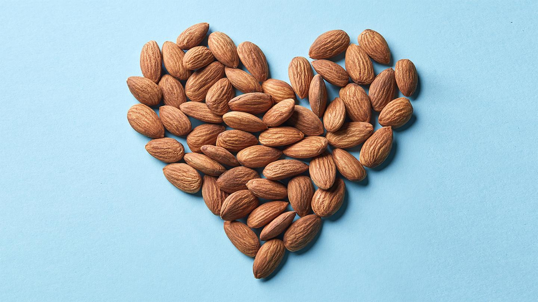 Almonds in Heart Shape